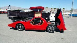 Evan Eskelson exhibited his 1987 Aztec 7 kit car sponsored by Odyssey Battery company during Show & Shine car show.