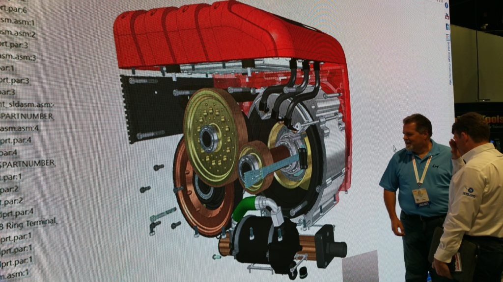 CAD drawing of Motoczysz motor to be adapted by Local Motors online design community to multiple electric vehicles.